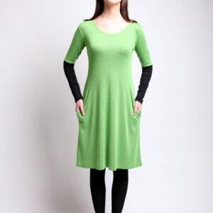 šaty VIKY -dvoubarevné, pouzdrové s kapsami