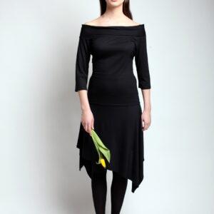 NORITA-černá sukně cípatá