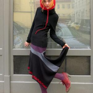 TINGO- sukně recyklovaná cípatá
