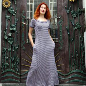 Marina - bavlněné maxi šaty s kapsami