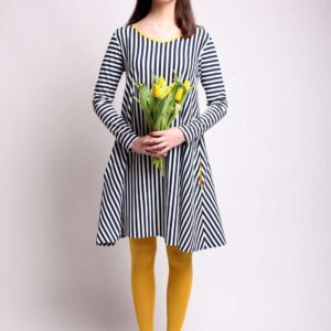 Máry - proužkované šaty s kapsami