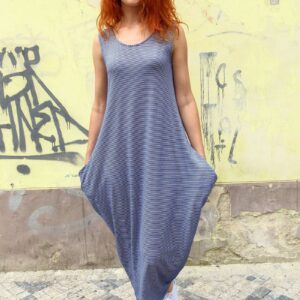 TAMY - Pruhované šaty s kapsami