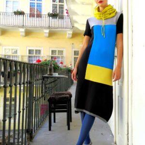 ZOLA šaty vícebarevné
