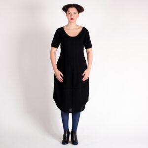 ROMKY-pletené šaty s balónovou sukní