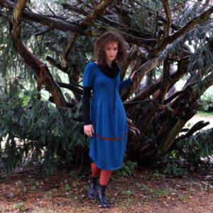 LÁRY- barevné pletené šaty s dl.rukávem