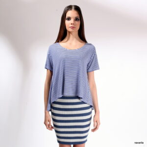 COLA- striped skirt from cotton