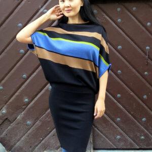 YENOME-pletené šaty pruhované