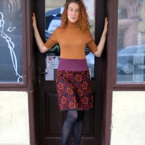 LARA-recy šaty s kytkama