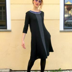 NOIRA- černé šaty s kapsami