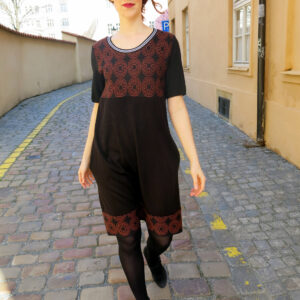 RAMIA- černé šaty s mandalami