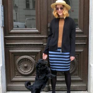 COLA-letní bavlněná pruhovaná sukně