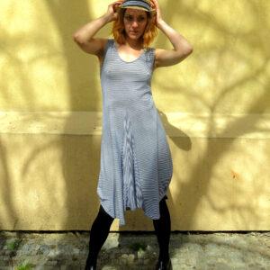 COCO - balónové letní šaty proužkované
