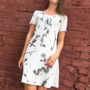 CÍNY-letní šaty s originální malbou