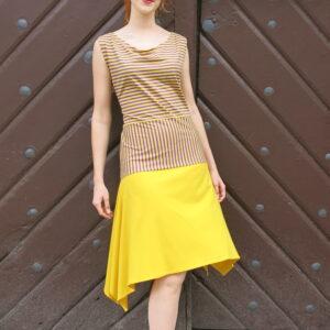 NATY -letní šaty s cípatou sukní